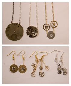 Upcycled from watch parts.