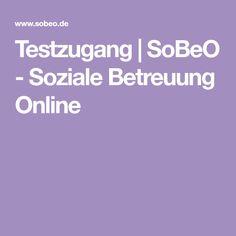 Testzugang | SoBeO - Soziale Betreuung Online