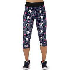 Activewear Capri Leggings Yoga Capri Pants Pink Feathers Abstract Womens Capri Leggings Polyester Spandex Tights