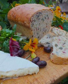 Nasturtium and pumpkin seed bread. Recipe included. Edible flowers - nasturtiums.