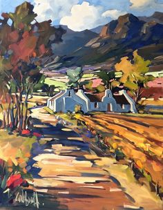 result for landscapes carla bosch Landscape Art, Landscape Paintings, Impressionist Paintings, Impressionism, South African Art, Painting Inspiration, Painting & Drawing, Amazing Art, Watercolor Art
