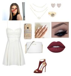 """""""Random Set :)"""" by kiaraobrien on Polyvore featuring beauty, Jimmy Choo, Michael Kors, Agent 18, LULUS, New Look and Lime Crime"""