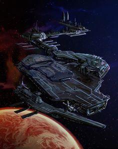 Sci-Fi Spaceship Design by DengyijiaLiu.deviantart.com on @DeviantArt