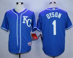 Men's Kansas City Royals #1 Jarrod Dyson Blue Alternate Cool Base Jersey