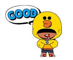 BRAWL STARS × LINE FRIENDS Editions Mr, Star Gif, Profile Wallpaper, Pikachu Art, Star Comics, Line Friends, Art Memes, Line Sticker, Animation