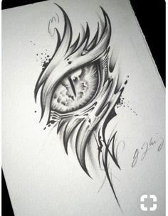Eye Drawings Dragon Eye Tattoo (Alpha) by J-Kings-Art Tattoo Drawings, Cool Drawings, Body Art Tattoos, Pencil Drawings, Dragon Drawings, Drawings Of Eyes, Dragon Eye Drawing, Dragon Sketch, Drawings Of Dragons
