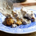 Drop biscuits with sausage gravy - I made this today and it was delicious! Everyone had second helpings!