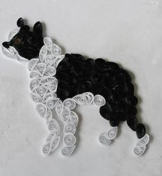 Boston Terrier Quilled Art
