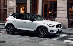Indir duvar kağıdı Volvo XC40, 2018, 4k, kompakt crossover, yeni beyaz XC40, Volvo