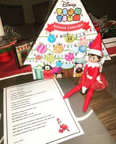 elf on the shelf tsum tsum advent calendar christmas time kids arrival letter
