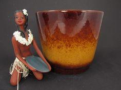 Großer Vintage Keramik Übertopf / Scheurich / Modell 806 22 | West German Pottery | 60er von ShabbRockRepublic auf Etsy