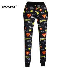 CMYAYA 2016 New Casual Black Print Superman Logo Men/Women/Girls/Boys Enjoy 50% Discount Jogger Pant at our web shop http://www.aliexpress.com/store/536244