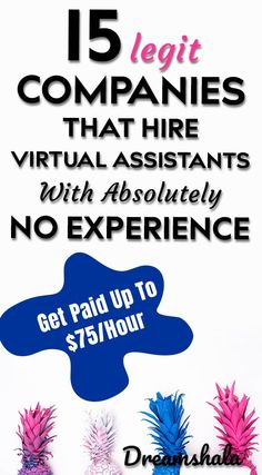 15 legit companies that hire virtual assistants with absolutely no experience. Ways To Earn Money, Earn Money From Home, Earn Money Online, Way To Make Money, Making Money From Home, Online Income, Money Tips, Legit Work From Home, Work From Home Tips