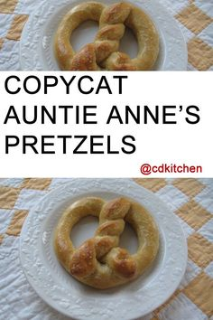 Just like the pretzels you get at the mall, but even better since you can make them at home!  | CDKitchen.com