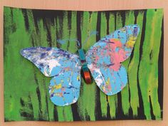 Splatter Paint Butterflies