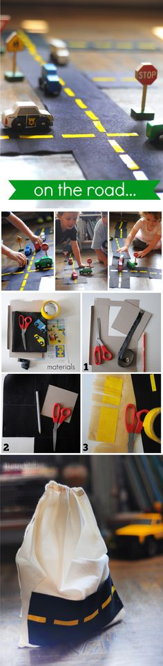 Make a fun road craft for your kids! It's so easy...all you need is felt and duct tape! @FamilyFunmag #everydayfun