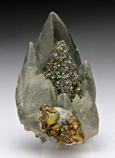 Calcite with Chalcopyrite/Marcasite