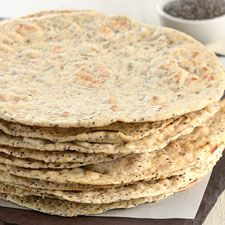 shared via nutiva.com - #Chia #Seed Flatbread! This soft and tasty flatbread features the pleasant crunch (and nutritional punch) of chia seeds.