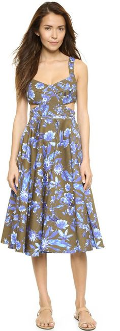 Pin for Later: Now This Is the Chicest Mummy-and-Me Dressing You Will Ever See  Cynthia Rowley Cutout Floral Dress (£208)