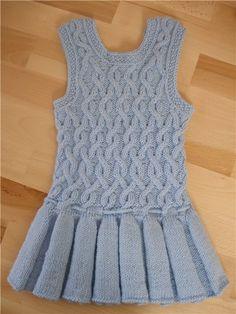 knitting cute cable dress for kids | make handmade, crochet, craft