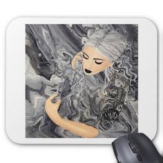 Koi Noir Mouse Pad - marble gifts style stylish nature unique personalize