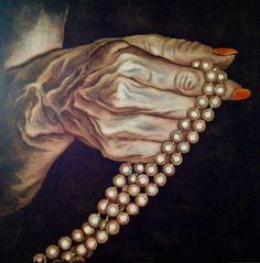 """""""Come un rosario"""" oil on canvas 90x90  Monica Spicciani #Painter #Painting in #Tuscany #Italy #art #fineart #artist #studio #contemporaryart #portrait #italianpainter #oil #figurative"""