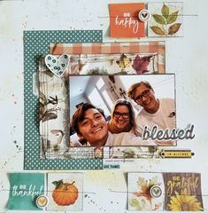 Autumn Splendor by Simple Stories. Design by Jennifer Gatewood for Scrappin' in the City. Simple Stories, Give Thanks, Autumn, Fall, Layouts, Card Ideas, Blessed, Scrapbooking, City