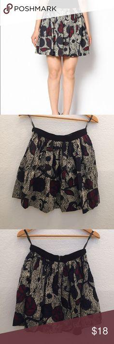 Topshop FULL FLORAL SWOOSH SKIRT Floral print skirt with side pockets. Cotton/elastane Topshop Skirts A-Line or Full