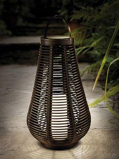 Lampe solaire LED 'Rotin colonne'