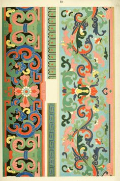 1867 - Examples of Chinese ornament selected from objects in the South Kensington museum and other collections - BY Owen Jones