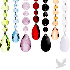 Hot 2012 Wedding Trends: 6 ft Princess Garlands - Diamond Crystal Garlands (16 Colors Available)