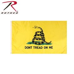 Gadsden Tea Party Yellow Shield Shaped Dont Tread On Me Sticker