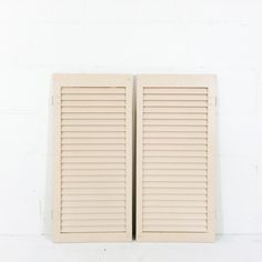 Pair of Pale Pink Shutters, great for card rack or hinge for freestanding display $30 Shutters, Pale Pink, Display, Eyes, Home Decor, Blinds, Floor Space, Billboard, Window Shutters