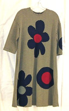 Rudi Gernreich dress, wool, c. 1968. Provenance: Estate of Rita Lawrence, co-founder of Architectural Pottery.