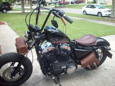 leather motorcycle front fork tool bag - Google Search