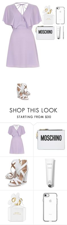 """""""READ DESCRIPTION PLEASE"""" by dutchfashionlover ❤ liked on Polyvore featuring River Island, Moschino, Miss KG, Rodin, Marc Jacobs, NYX, chic, white and purple"""