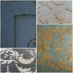 Can't decide what to take during an Advanced technique session with Rhonda J? Advanced techniques pictured: Artisan Enhancements -Crackle, stencil, fine stone, pearl plaster, and VP Antico with Annie Sloan Chalk Paint®