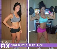 Shannon Lost 6 pounds in just 3 weeks with the 21 Day Fix program!