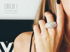 Sterling Silver Ring. Handmade jewelry by Emilia i. https://www.facebook.com/emiliai.joyas/