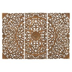 Wood Wall Art Plaque Set of 3 | Overstock.com Shopping - The Best Deals on Accent Pieces