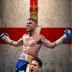 Carl Frampton Boxing World Champion Northen Ireland Flag