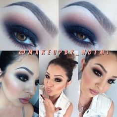 Noemi @makeupby_noemi Instagram photos | smokey eye