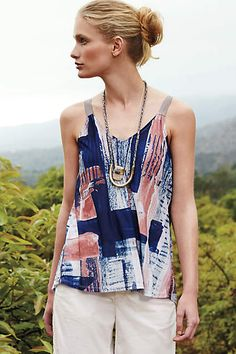 This Orabel Tank from Anthropologie works best for hourglass and inverted triangle figures. Click through to find out why. Purchases made through Styletruist help women in need!