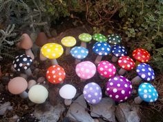 party supplies wholesale lot 100 Fairy garden mushrooms toadstools by smalloldthings, $100.00