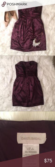 Plum bridesmaid dress!! Only worn once! David's Bridal plum bridesmaid dress! It has pockets!! David's Bridal Dresses Wedding