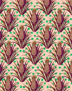 Colorful Pineapples. #illustration #pattern