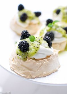 Kiwi Pavlova With Lime Zest Recipe — Dishmaps