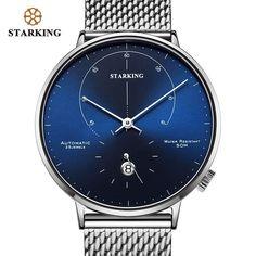6323a6012 US $45.0 |STARKING Automatische Uhr Relogio Masculino Selbst wind 28800  Schlägt Mechanische Bewegung Armbanduhr Männer Stahl Männlichen Uhr 5ATM  AM0269 in ...