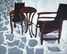 Kara Asilanis Original Acrylic on Canvas Mykonos by KaraAsilanis