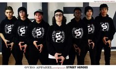 Ovrg apparel, proud to be a sponsor for the dance crew Street Heroes  https://www.facebook.com/Street-Heroes-890212274380570/